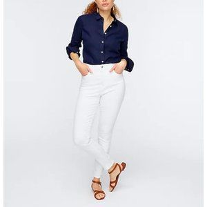 J.Crew $98 Curvy Toothpick Jeans in White Size 30